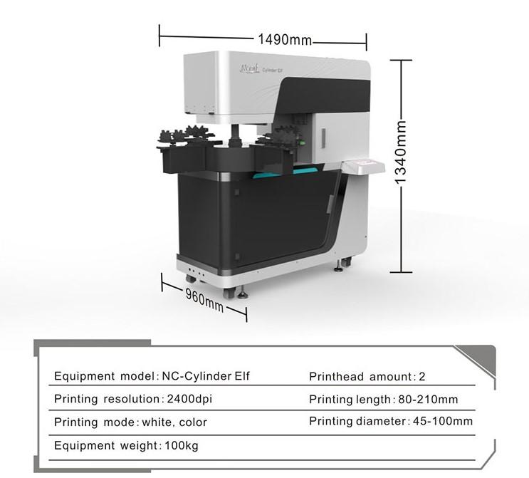 Specifikacija UV printera i masine za stampu na flasama i kruznim predmetima.