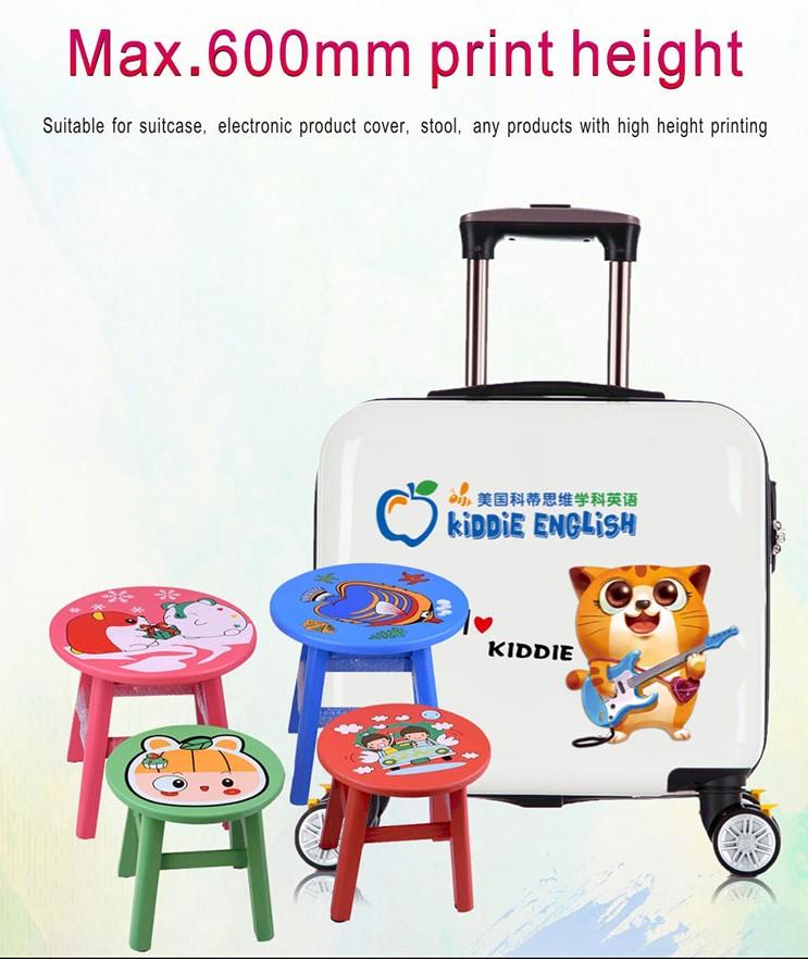 Reljefna UV direknta štampa na koferima i plastičnim stolicama